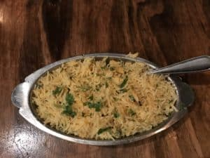 Maggi Food Blogger - Coconut Rice at Sula - Top Rated Indian Restaurant in Vancouver, BC