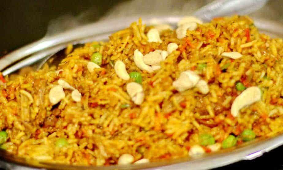 Indian rice preparation Lamb Biryani