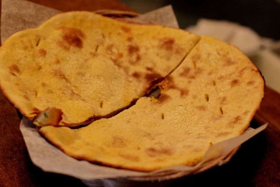 Indian gluten free bread, flat bread made from chickpeas