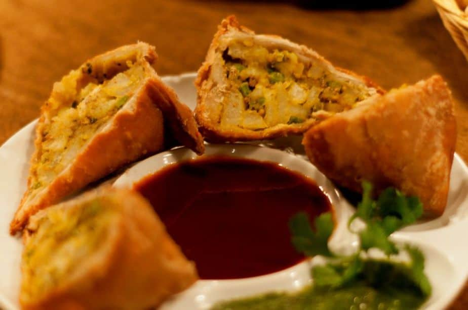 Vegetable Samosa Served at the Top Indian restaurant in Vancouver, BC