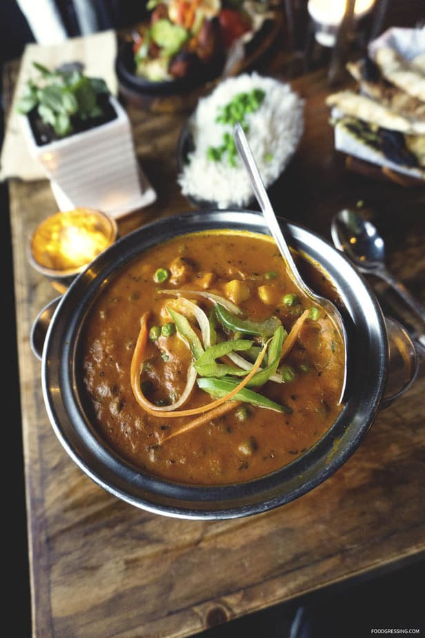 Traditional Indian Food at Sula Vancouver - Indian Curry - Foodgressing