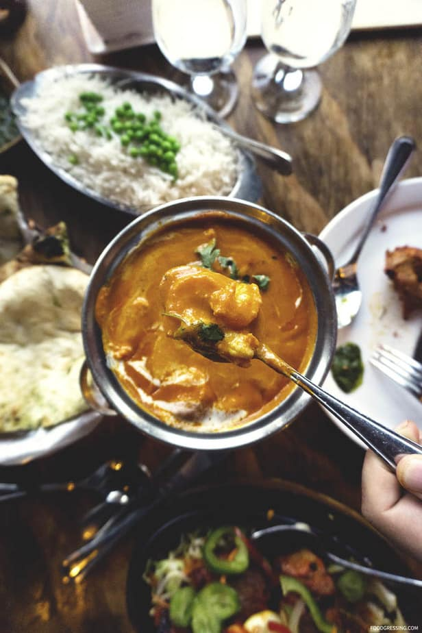 Traditional Indian Food at Sula Vancouver - Indian Prawn Makhani - Foodgressing