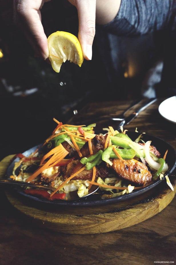 Traditional Indian Food at Sula Vancouver - Tandoori Wings with Lemon Juice - Foodgressing