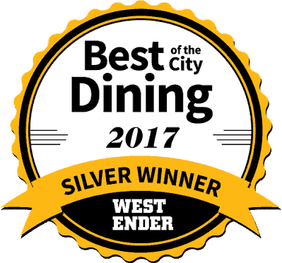 2017 Annual Westender Dining Award - Sula Indian Restaurant Vancouver BC