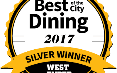 Sula Receives Westender's 2017 Annual Best Of The City Dining Award!
