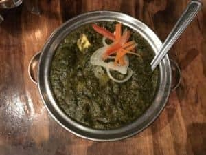 Maggi Food Blogger Saag Paneer at Sula - Best Rated Indian Restaurant in Vancouver, BC