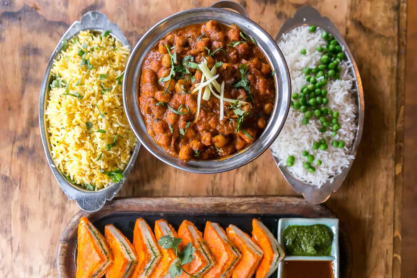Channa Masala Vegan Indian Food in Vancouver