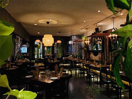 Indian restaurant Vancouver interior
