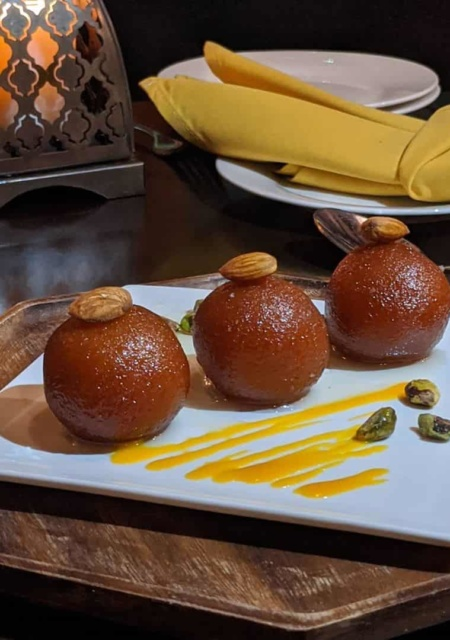Gulab jamun dessert in Vancouver
