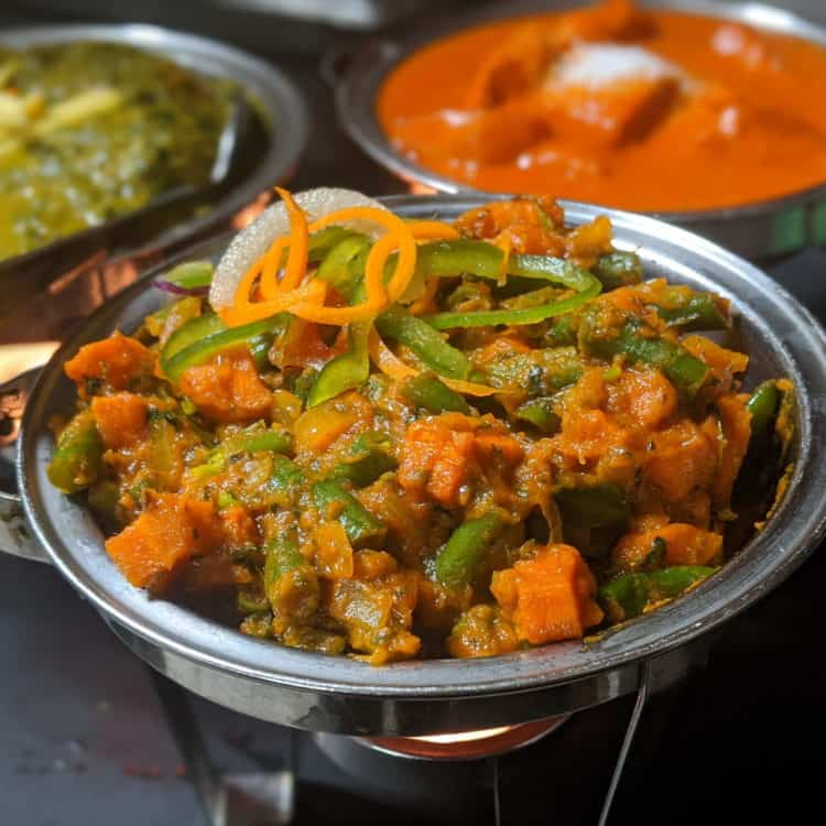 Chilli Green Beans, Peas & Carrot Sabzi