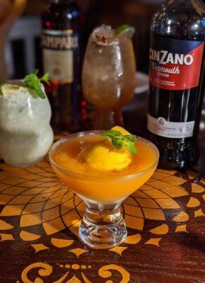 frozen mango negroni