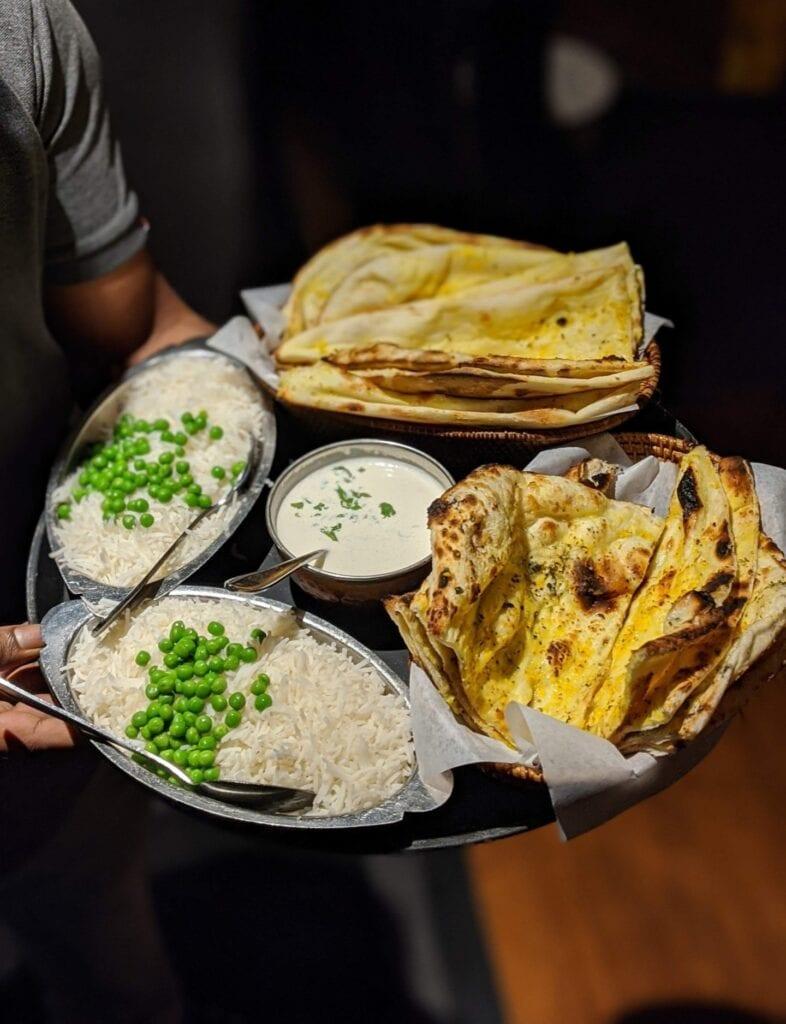 Rice and Garlic Naan