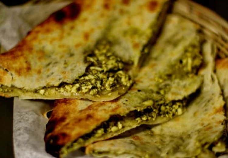 Spinach Paneer Naan
