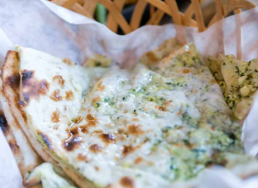 Spinach and Paneer naan