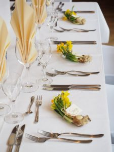 Table Setup in a Wedding Ceremony In Vancouver