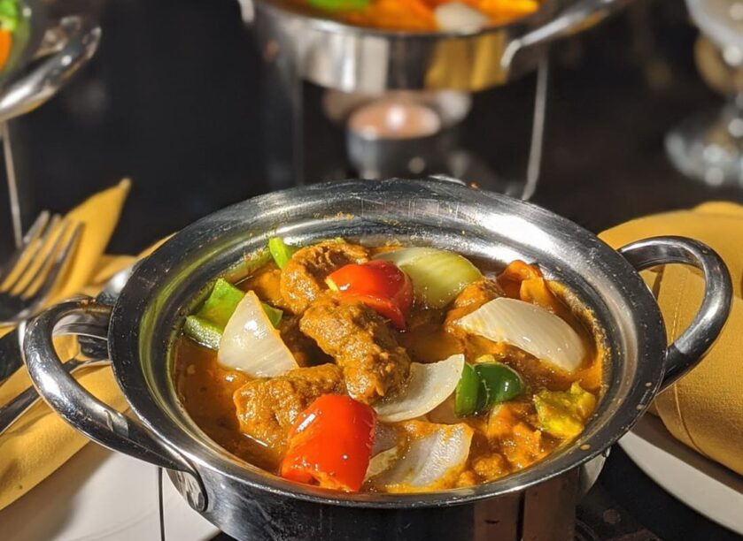 Lamb Kadai for Dine out