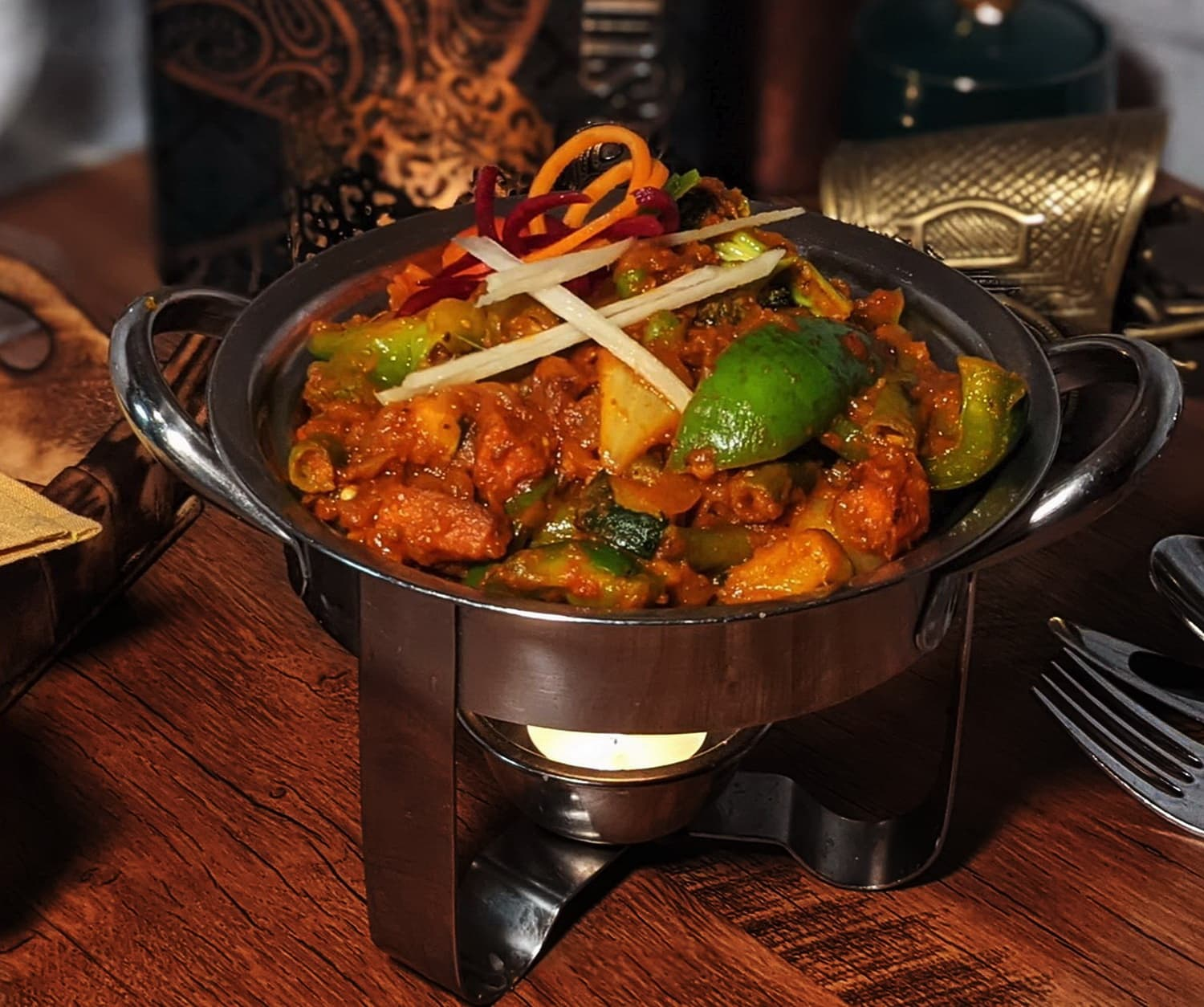 Indian Kadai Vegetable Curry